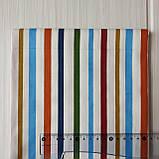 Ткань в разноцветную полоску  40*50 см, фото 2