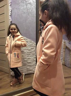 Кашемірове пальто для дівчаток осінь-весна