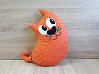 Мягкая игрушка - подушка кот хлопок ручная работа