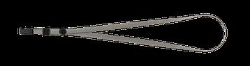 Шнурок з кліпом, сірий