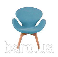 Крісло Сван Вуд Армз блакитний, бук, тканина