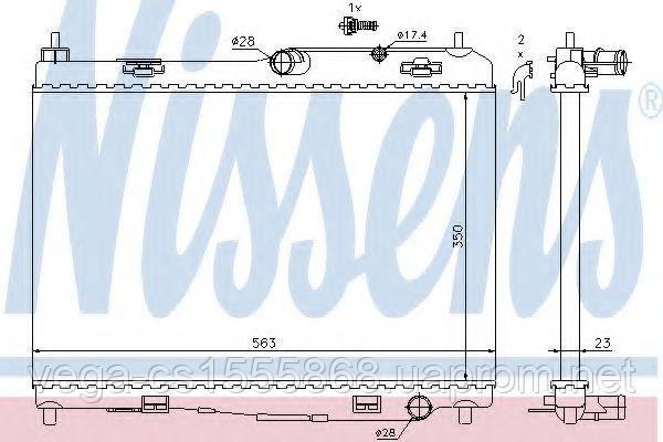 Радиатор охлаждения двигателя Nissens 69235 на Ford Fiesta / Форд Фиеста