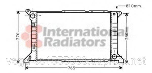 Радиатор охлаждения двигателя Van Wezel 18002204 на Ford Transit / Форд Транзит