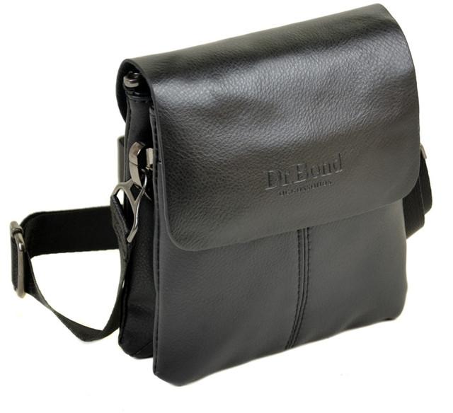 f800230f4107 Мужская сумка-планшет Dr.Bond. Клапан из натуральной кожи. Под клапаном  дополнительно закрывается на молнию. Два отделения с боковым карманом на  молнии и ...