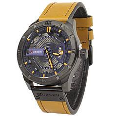 ★Кварцевые часы CURREN 8301 Brown мужские влагозащищенный стальной корпус точный ход наручные