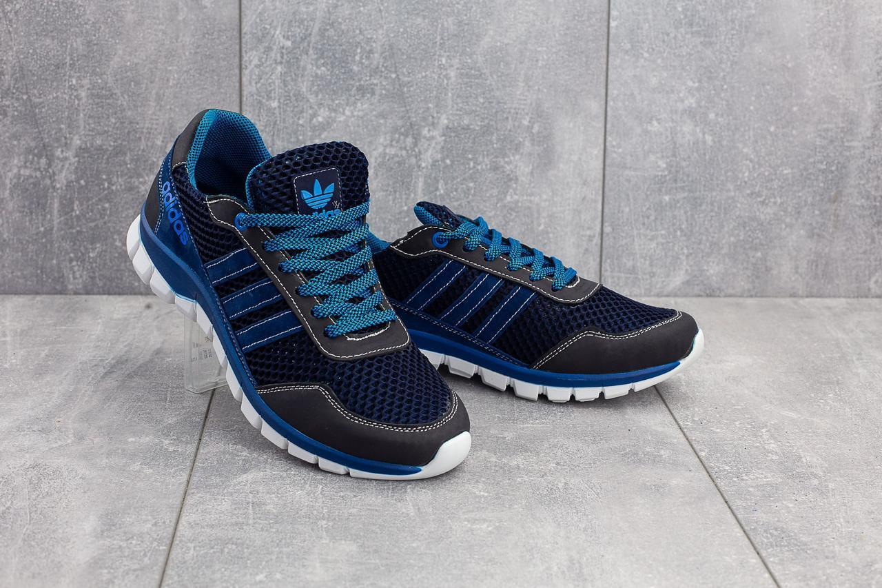 Кроссовки CrosSAV 23 (Adidas) (лето, мужские, текстиль, синий-голубой)