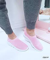 Женские кроссовки Balenciaga Баленсиага розовые текстиль (реплика)