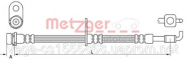 Тормозной шланг Metzger 4111332 на Ford Fiesta / Форд Фиеста