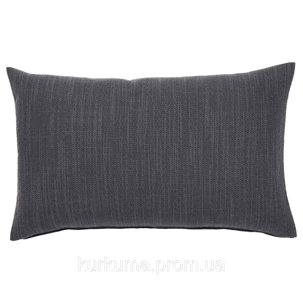 IKEA HILLARED Наволочка на декоративную подушку, антрацит  (603.623.76)