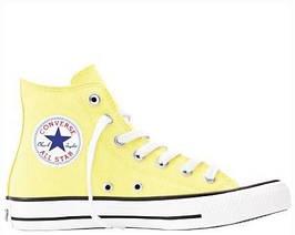 "Кеды Converse Chuck Taylor All Star High ""Light Yellow"" , реплика, хорошее качество, Акция!"