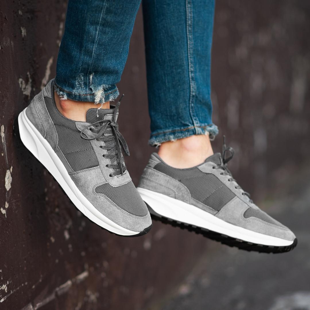 Чоловічі кросівки South Soft Step gray. Натуральна замша