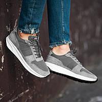Чоловічі кросівки South Soft Step gray. Натуральна замша, фото 1