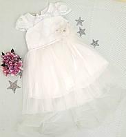 Платье нарядное Эмилия, размер 3, 4 года, молочный, фото 1