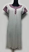 Женская сорочка D&C fashion, сиренево - серая, 0370
