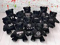Мишка в брендовом балахоне D6454 черный, фото 1