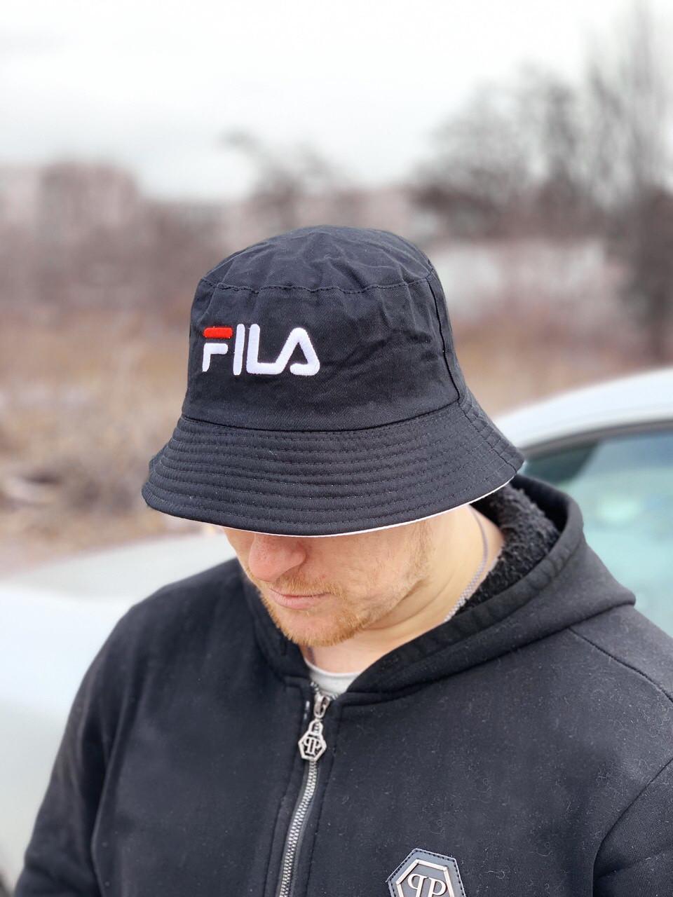 Панама Fila D6443 двухсторонняя черная и белая
