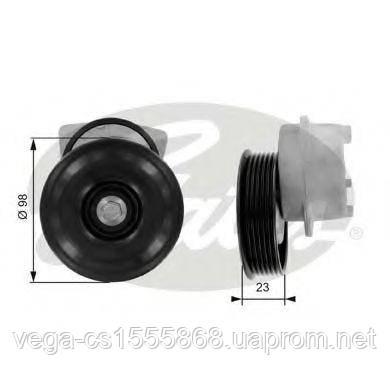 Натяжной ролик поликлинового ремня Gates T38203 на Ford Fiesta / Форд Фиеста
