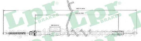 Трос ручного тормоза LPR C0294B на Ford Transit / Форд Транзит