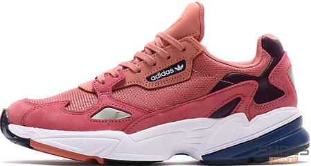 1d66db84 Женские кроссовки Adidas Falcon W (Raw Pink/Light Blue) купить в ...