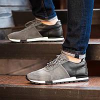 Мужские кроссовки South Flyxx gray. Натуральная замша, кожа, фото 1