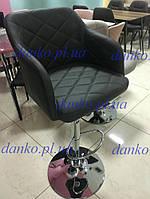 Стул барный В-95 графит с подлокотниками от Vetro Mebel, кожзам