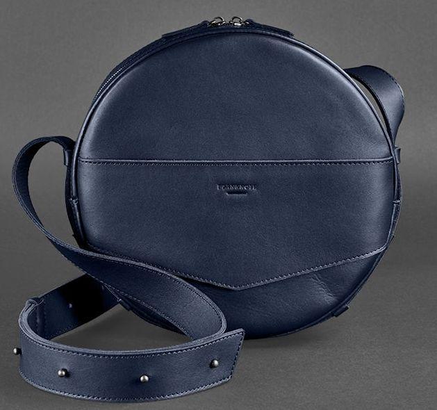 0f2f7099bf6e Кожаная женская сумка-рюкзак BlankNote BN-BAG-30-navy-blue, синий ...