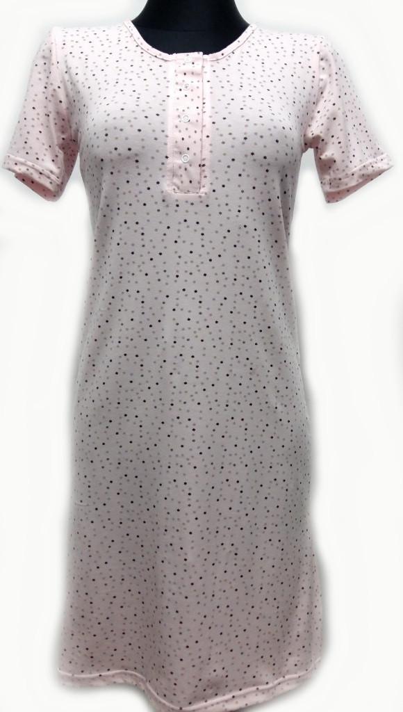 Сорочка - рубашка ночная женская D&C fashion, розовая