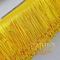 Бахрома танцевальная, цвет Yellow, 10см*1м