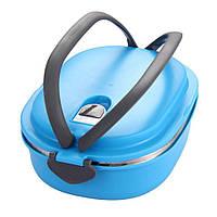 ✅ Пластиковый пищевой контейнер для еды (ланч бокс), 900 мл Голубой , Пищевые контейнеры, ланч-боксы