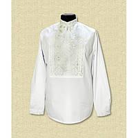 Мужская сорочка вышиванка белая по белом - Низанка