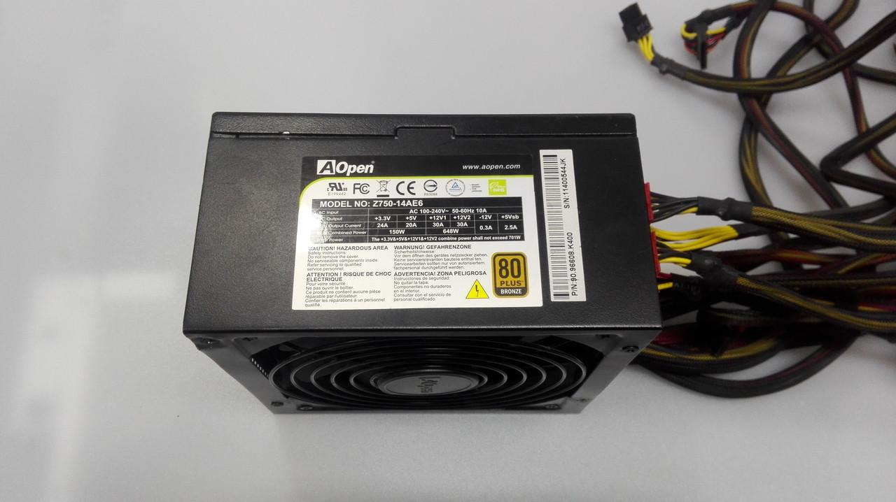 Блок питания ATX AOpen 750Вт С модульной системой кабелей
