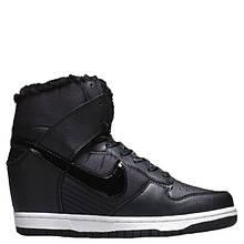 """Сникерсы Nike WMNS Dunk Hight """"Black"""" С МЕХОМ , реплика, хорошее качество, Акция!"""