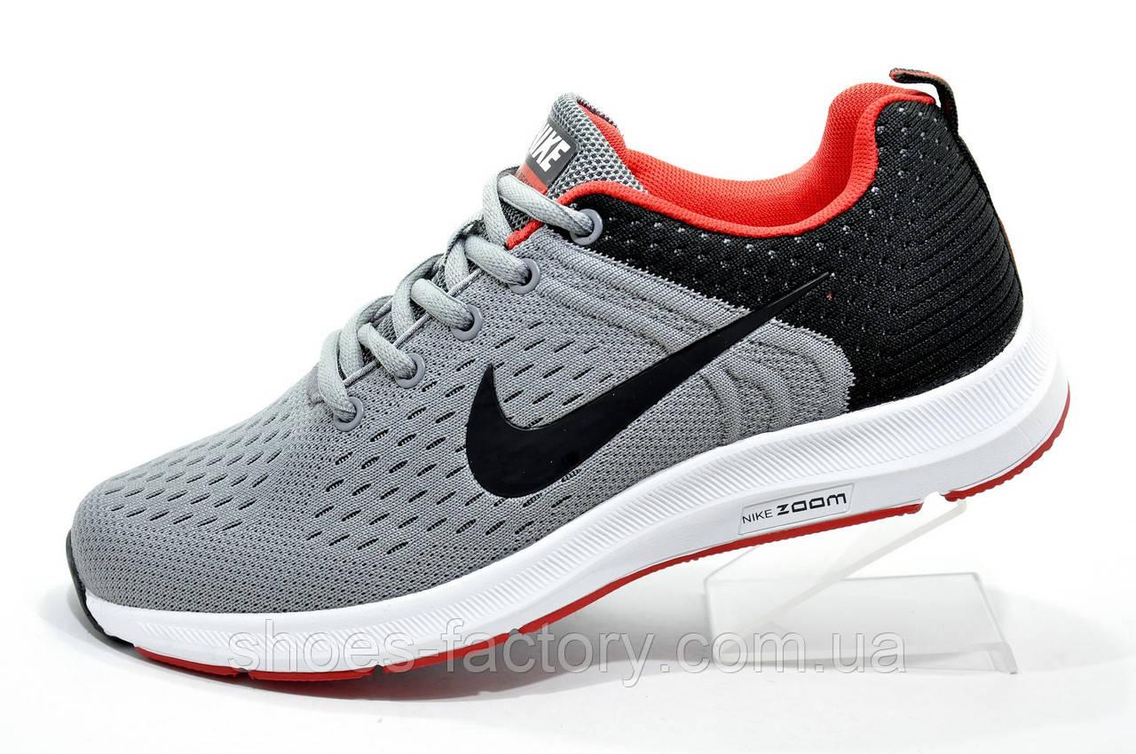 6a36dde6 Беговые кроссовки в стиле Nike Air Zoom Pegasus, Gray\Black - Интернет  магазин спортивной