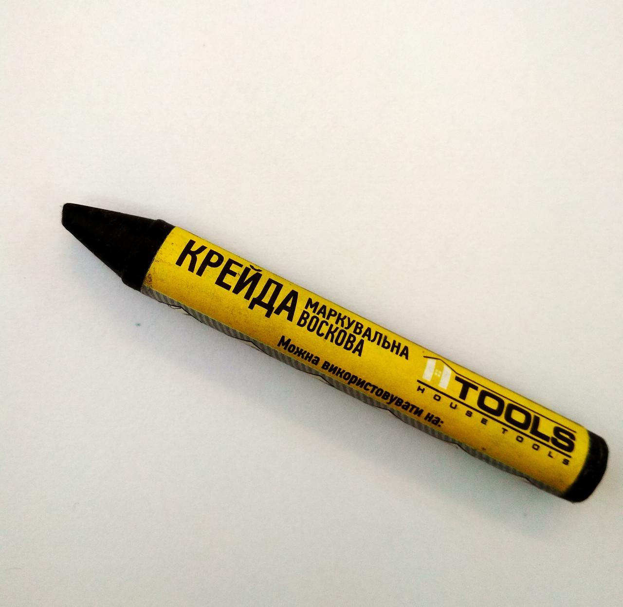 Мел маркировочный восковой, черный (2шт в пакете). HTools, 14K844