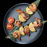 Якіторі з креветками і кабачками