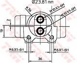 Колесный тормозной цилиндр TRW BWK223 на Opel Movano / Опель Мовано, фото 2