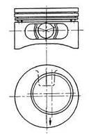 Поршень Kolbenschmidt 92123610 на Opel Calibra / Опель Калибра