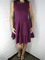 """Сукня жіноча з воланами """"Надія"""" фіолетове 42, фото 1"""
