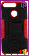 Чехол-накладка TOTO Dazzle kickstand 2 in 1 phone case Huawei Y6 2018 Red