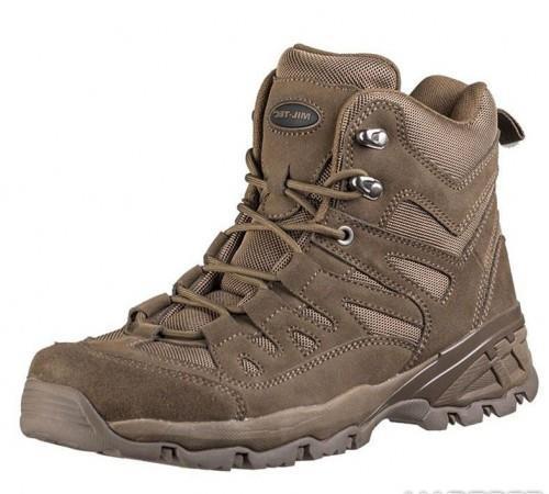 Заниженные ботинки тактические Miltec Trooper 5inch brown коричневые