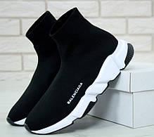 Мужские кроссовки Balenciaga Speed Trainer Black/White 530349 W05G9 1000, фото 2
