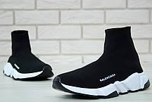Мужские кроссовки Balenciaga Speed Trainer Black/White 530349 W05G9 1000, фото 3