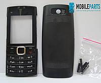 Корпус для телефона (Передняя и задняя крышки) для Nokia X2-02  (Качество ААА) (Черный) Распродажа!