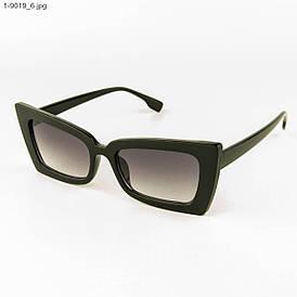 Стильные женские солнцезащитные очки - Черные - 1-9019