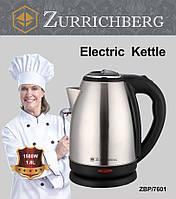 Zurrichberg электрический чайник 1,8 л ZBP-7601 дисковый электрочайник нержавейка