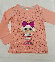Реглан с куклой Lol для девочек 104-110-116-122-128 роста