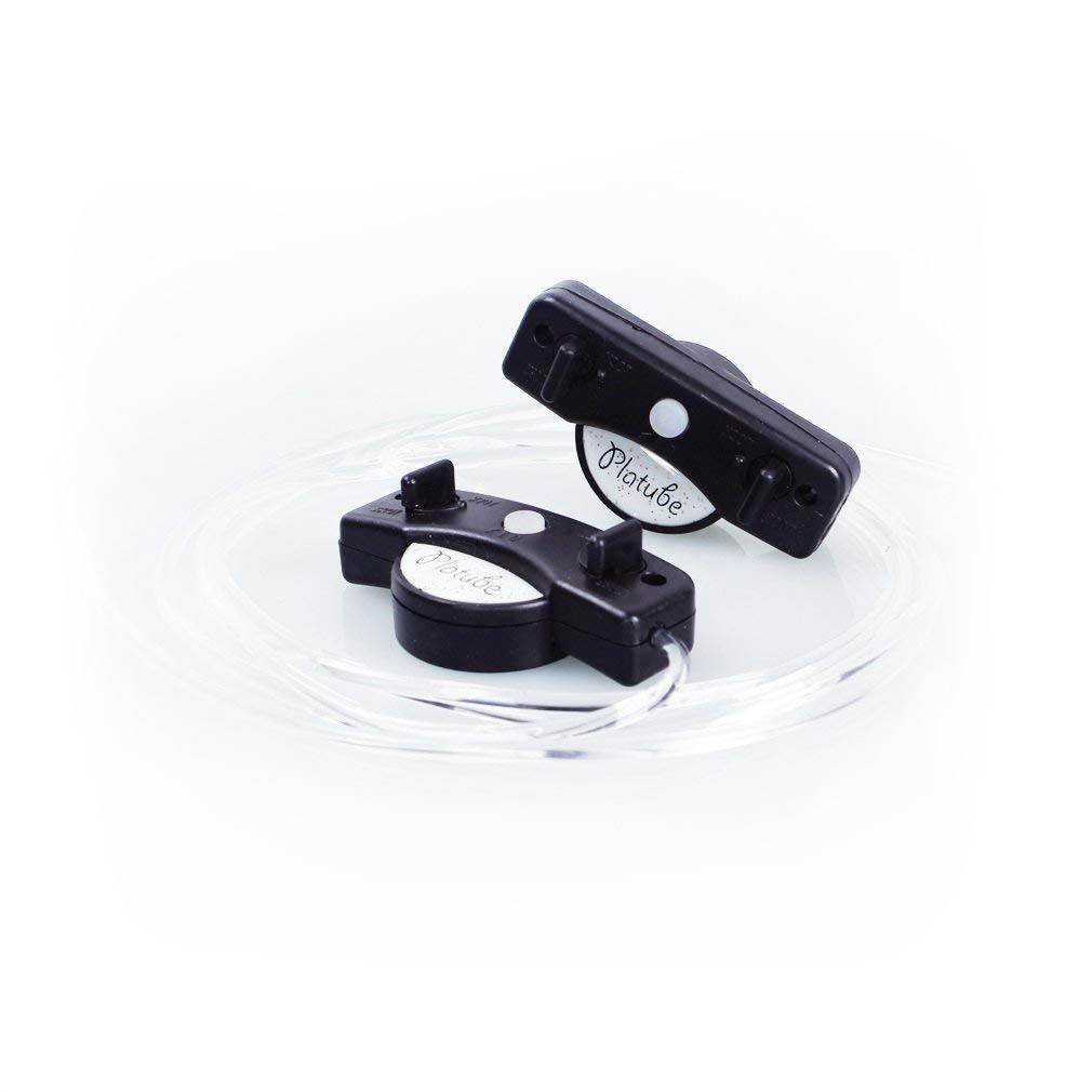 Светящиеся силиконовые LED шнурки Platube Laces, цвет - Чёрный, с доставкой по Киеву и Украине
