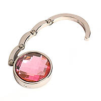 Крючок для сумки, держатель, Аметист, цвет - розовый