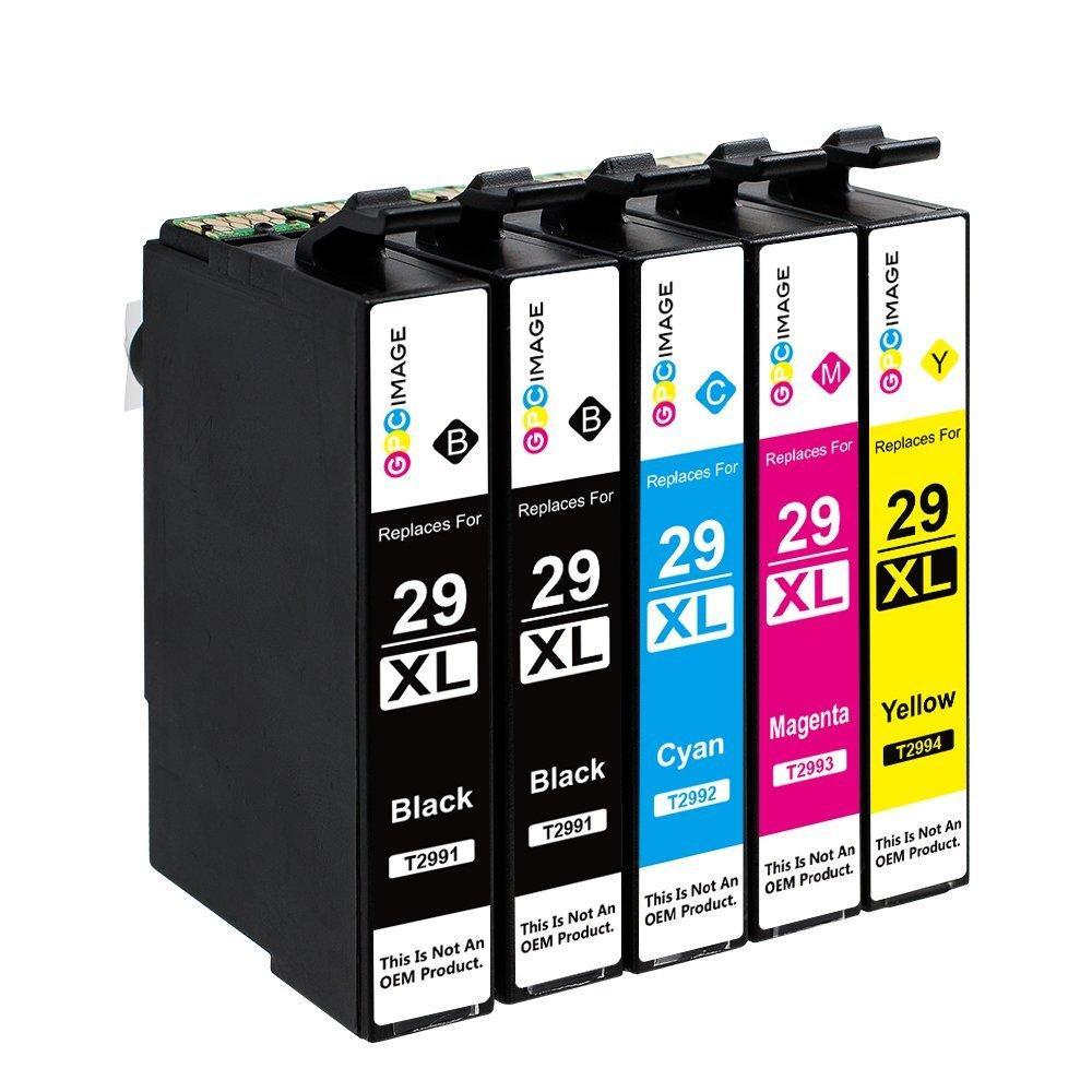 GPC Image 5 Pack 29XL 29 - Картриджи Совместимость Epson 29XL (2 черный, 1 голубой, 1 пурпурный