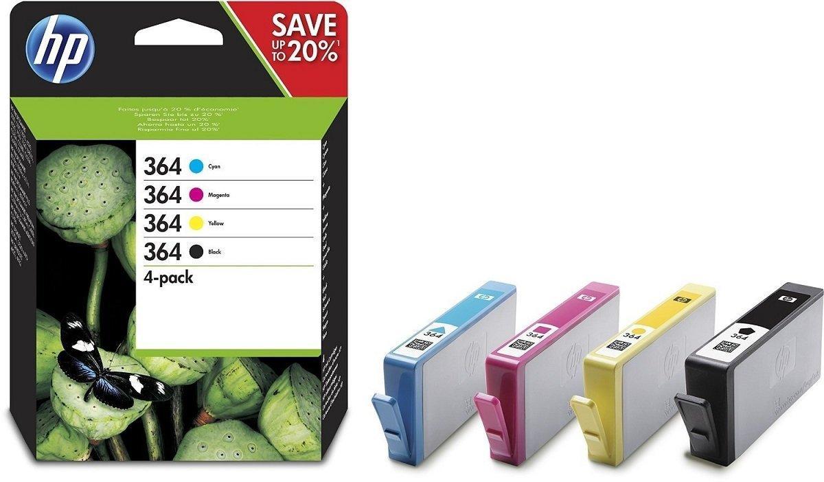 HP 364 Pack - Ооригинальные чернильные картриджи (N9J73AE) Черные / голубые / пурпурные / желтые